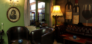 Het gezellige interieur van Brasserie Meerakker